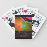 Acuarela por los naipes de la noche barajas de cartas