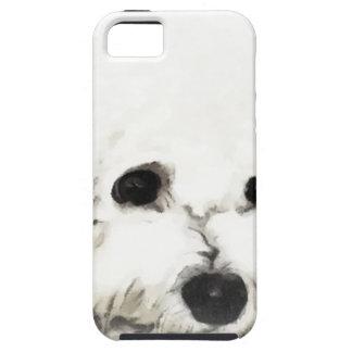 Acuarela principal artística de Bichon iPhone 5 Case-Mate Protector