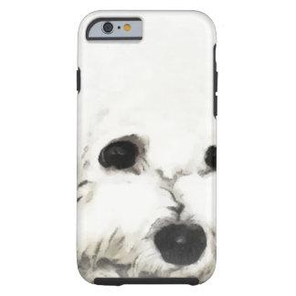 Acuarela principal artística de Bichon Funda De iPhone 6 Tough