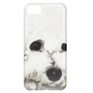 Acuarela principal artística de Bichon Funda iPhone 5C