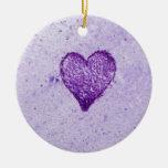 Acuarela Purple Heart Ornamento De Reyes Magos