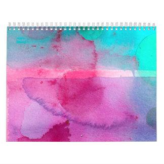 Acuarela púrpura de Ombre del trullo rosado Calendarios