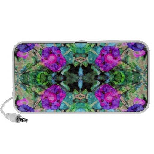 Acuarela púrpura floral bonita de las correhuelas PC altavoces