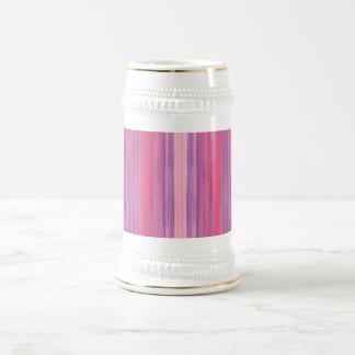 Acuarela púrpura rosada abstracta jarra de cerveza