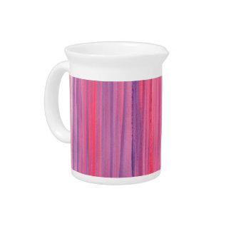 Acuarela rayada Ciruelo-Rosada y púrpura Jarrón