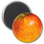 Acuarela roja de Apple - imán