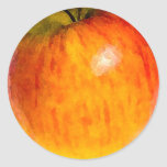 Acuarela roja de Apple - pegatina