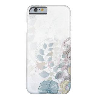 acuarela rosada azul abstracta del caso del iPhone Funda De iPhone 6 Barely There