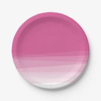 Acuarela rosada elegante Ombre Platos De Papel