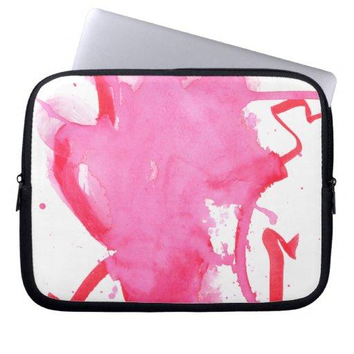 Acuarela rosada mangas portátiles