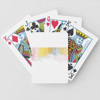 Acuarela saturada de las rayas cartas de juego