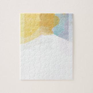Acuarela saturada de las rayas puzzles con fotos