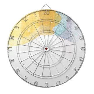 Acuarela saturada de las rayas tabla dardos