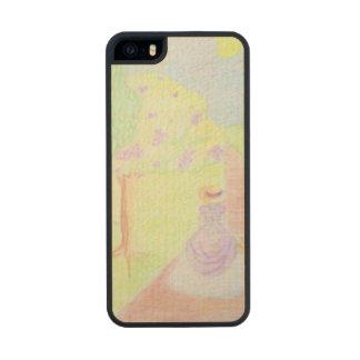 Acuarela soleada del paseo de la mañana funda de arce carved® para iPhone 5