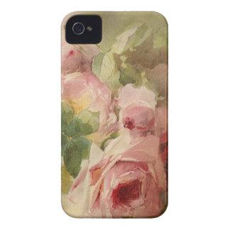Acuarela subió Victorian del vintage Case-Mate iPhone 4 Carcasa
