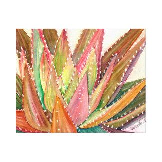 Acuarela suculenta colorida de Debra Lee Baldwin Lona Envuelta Para Galerias