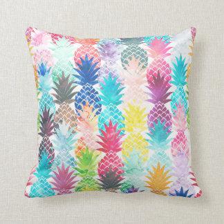 Acuarela tropical del modelo hawaiano de la piña almohada