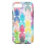 Acuarela tropical del modelo hawaiano de la piña funda iPhone 7
