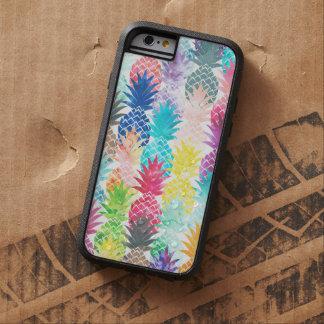Acuarela tropical del modelo hawaiano de la piña funda para  iPhone 6 tough xtreme