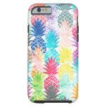 Acuarela tropical del modelo hawaiano de la piña funda resistente iPhone 6