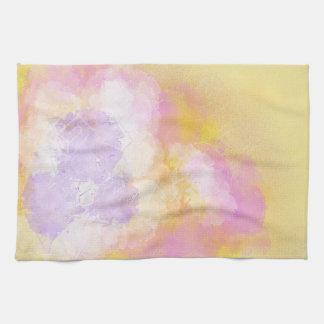 Acuarelas abstractas - fondo anaranjado toallas
