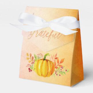 """Acuarelas """"agradecidas"""" de la acción de gracias caja para regalos"""