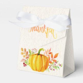 """Acuarelas """"agradecidas"""" de la acción de gracias cajas para regalos"""