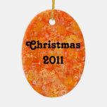 Acuarelas anaranjadas del estilo del batik ornatos