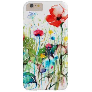 Acuarelas coloridas las flores rojas de la amapola funda barely there iPhone 6 plus