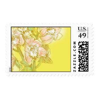 Acuarelas de Ceci - orquídeas amarillas Sellos