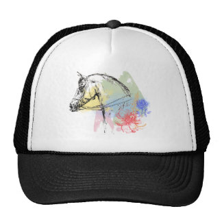 Acuarelas de la cabeza de caballo gorro