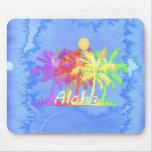 Acuarelas de la palmera de la hawaiana de Hawaiin Alfombrilla De Raton