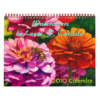 Acuarelas de Laura F. Carlisle Calendario
