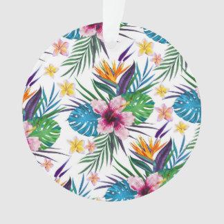 Acuarelas florales tropicales hermosas de la