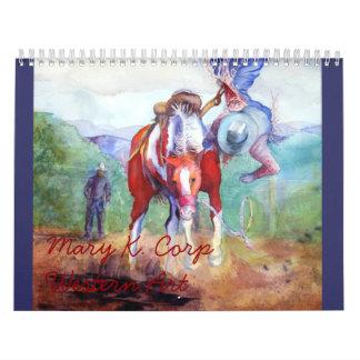 Acuarelas occidentales calendario
