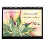 Acuarelas suculentas 2016 de Debra Lee Baldwin Calendarios