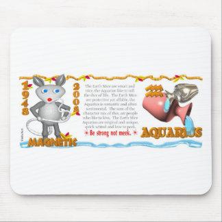 Acuario 1948 de la rata de la tierra del zodiaco d alfombrillas de raton