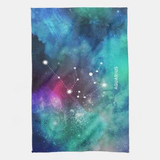 Acuario azul rojo elegante de la nebulosa de la toalla