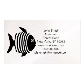 Acuario blanco y negro de los pescados tarjeta de visita