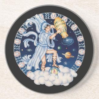 Acuario CAMBIABLE del zodiaco del OPUS Posavasos Cerveza