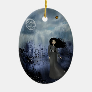 Acuario - chicas del zodiaco - ornamento ornamento de navidad