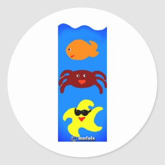 Acuario Classic Round Sticker