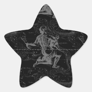 Acuario constelación Hevelius 1690 20 de enero 18 Calcomania Forma De Estrella