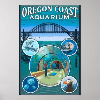 Acuario de la costa de Oregon Póster