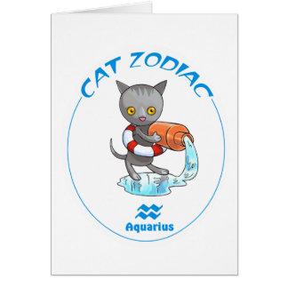 Acuario de los gatos del zodiaco tarjeta pequeña
