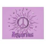Acuario de Sun de la paz Invitación 10,8 X 13,9 Cm