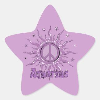 Acuario de Sun de la paz Pegatina En Forma De Estrella