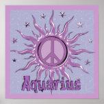 Acuario de Sun de la paz Póster