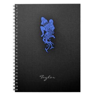Acuario del azul real libro de apuntes con espiral