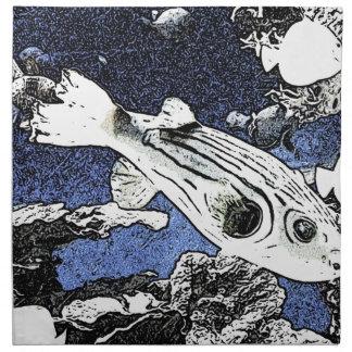 acuario del bosquejo servilleta de papel